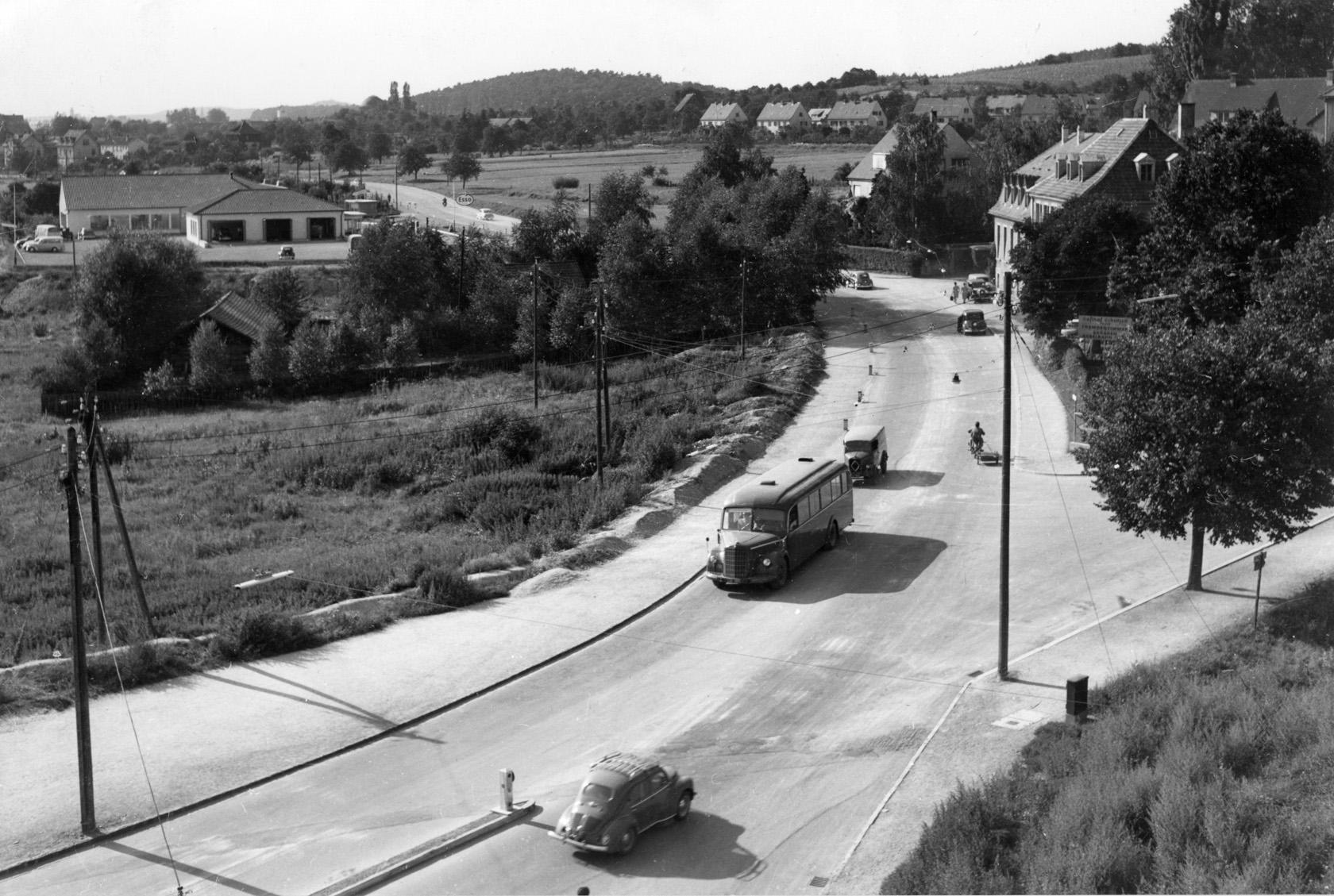 Konstanz Wollmatingerstrasse in den 50er Jahren